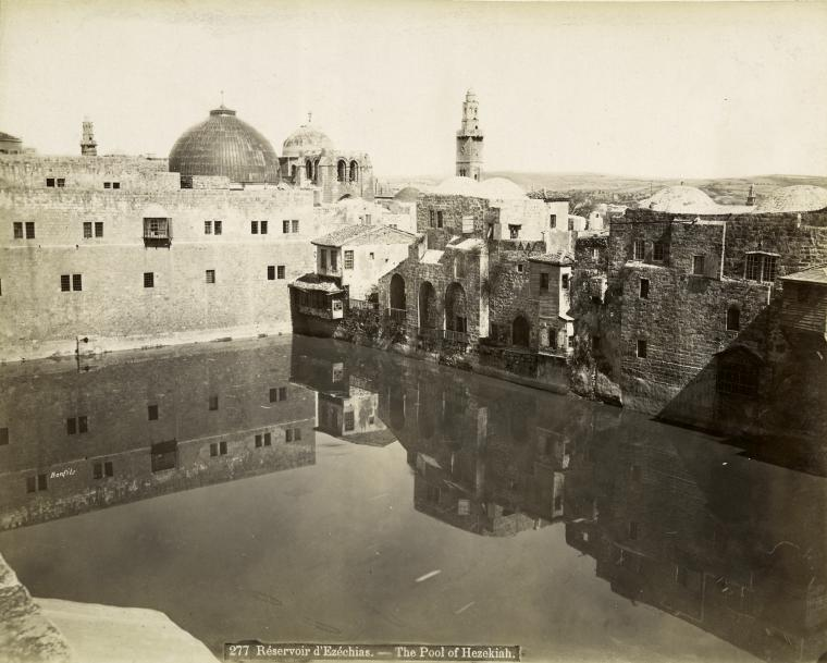 Félix_Bonfils._The_Pool_of_Hezekiah._1894
