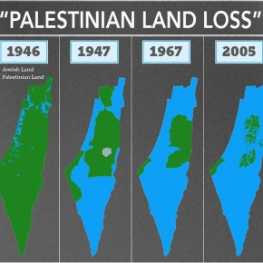"The fake map of ""PaLIEstinian losses"" circulating in media"