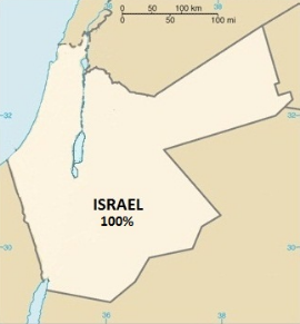 The Israeli Loss of Land During Muslim Jihad Occupation